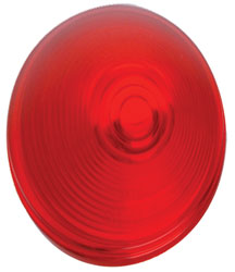 Roadpro RP-41015R-1 4 Round Snap Ring Repl.lens - Red - Single