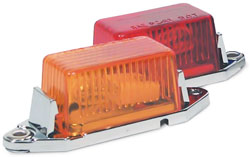 Roadpro RP-107R 1.75 x 1 Mini Light with Replaceable Bulb and Lens - Red Chrome Base (1 Each)