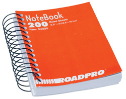 Roadpro 54200 5.5 x 4 Spiral Notebook - 200 Pages