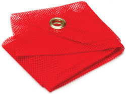 Roadpro 1818G Danger Flag 18x18red Mesh - Grommets
