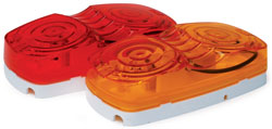 Roadpro RP-1211R 4x 2 Dbl Bubble Lt with Mnting Base - Red