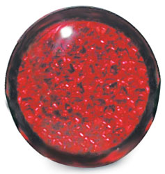 Roadpro RP-3156 1.75 inch Round Adhesive-bak Reflector - Red- 2 Pack
