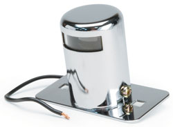 Roadpro RP-107C Chrm Lcns Plate Light - Clear Top Hat