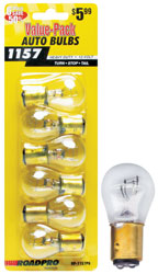 Roadpro RP-1157P6 Turn Signal - Stop - Tail Light Bulbs-6 Pack