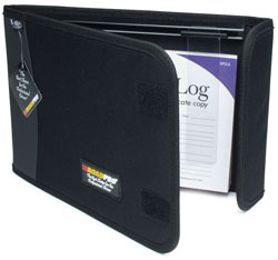 Roadpro LB-002BK Logbook Cover 2 Pocket with Slider Black