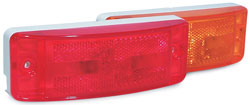 Roadpro RP-46873 Turtleback Amber Sealed Light - 6x2