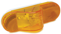 Roadpro RP-6164A Side Turn Ind - 6-1 - 2x2-1 - 4 - Amber - Oval