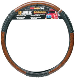 Roadpro RPSW-3003 Steering Wheel Cover 18blk - Wdgrn Massag