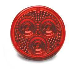 Roadpro RP1030RDL Round 2 Diamond Lens Sealed Mkr Lt Red