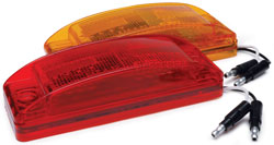 Roadpro RP-1284A 8 LED Marker Lt with Rect.lens - Amber - 6x2