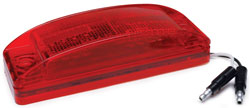 Roadpro RP-1284R 8 LED Marker Lt with Rect.lens - Red - 6x2