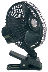 Roadpro RP-1137 12 Volt Oscillating Fan with Metal Grill