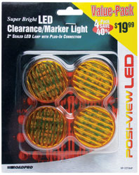 Roadpro RP-1277A4P Led Clrnce - Mrkr Lt.2sealed Ambr - 4pack