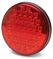 Roadpro RP-5575R Red 4led Chrm Back Sealed Stp - Tail - Trn