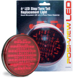 Roadpro RP-5570R40L Red 4led Sealed Stp - Tail - Trn Light
