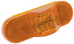 Roadpro RP6164AL Side Turn LED Ind - 6-1 - 2x2-1 - 4 - Amb - Oval