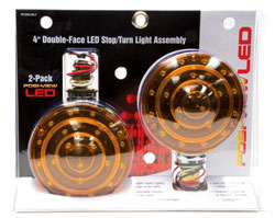 Roadpro RP3802-40L2 Led 4 Red - Amber Dbl Side Lt - 2pk