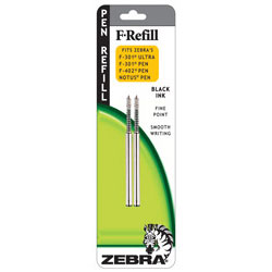 Zebra 85512 Pen Refill - 2pk Black Ink Fine