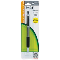 Zebra 29211 F402 Pen Black Retractable- Pack of 12