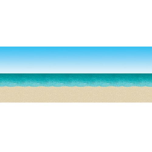 Beistle Company 26774 30  Blue Sky & Ocean Beach Backdrop - Plastic