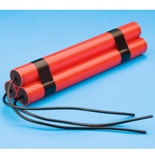 Peter Alan Inc 144728 Three Cylinders Fake Dynamite with Wires