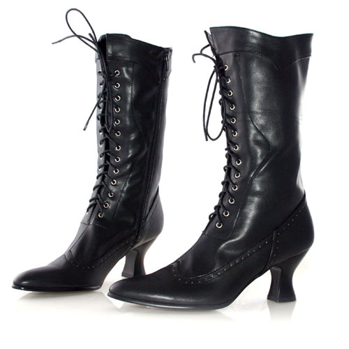 Ellie Shoes 33549 Amelia Black Adult Boots Size 6