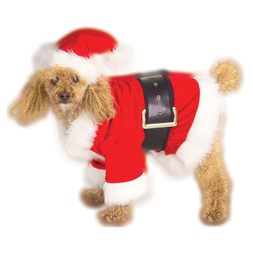 Rubie s Costume Co 34593 Santa Claus Pet Costume Size Medium