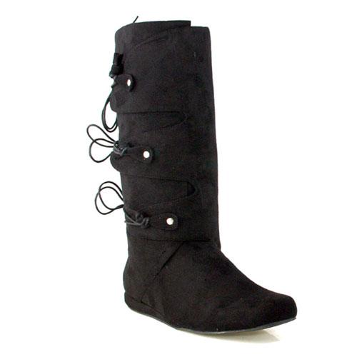 33558 Thomas Black Adult Boots Size Medium 10-11