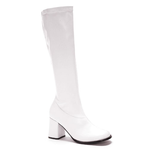 Ellie Shoes 33608 White Gogo Boots Adult Size 8