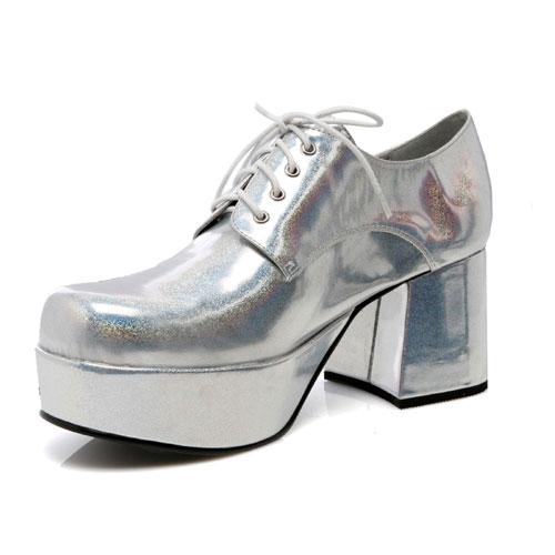 Ellie Shoes 33628 Silver Pimp Shoes Adult Size Small 8-9