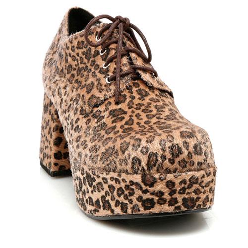 33629 Leopard Print Pimp Shoes Adult Size Large 12-13