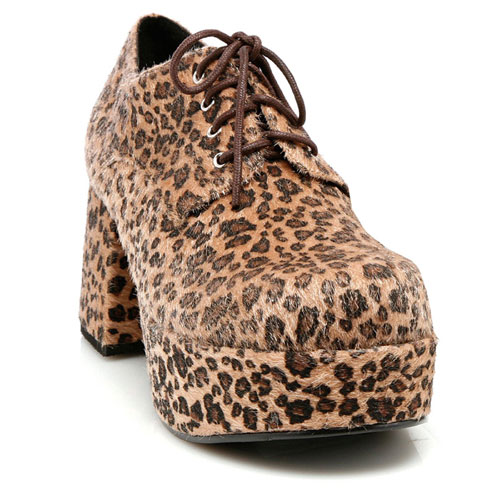 33629 Leopard Print Pimp Shoes Adult Size Small 8-9