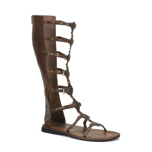 PLEASER 34400 Roman Sandals Brown Adult Size Large 12-13