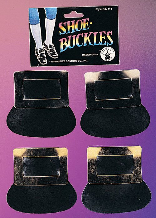 Rubies Costume Co 6306 Shoe Buckles  Colonial Silver BUYS1859