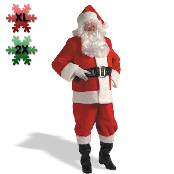 Halco 18248 Kris Kringle Suit Plus Costume Size 2X