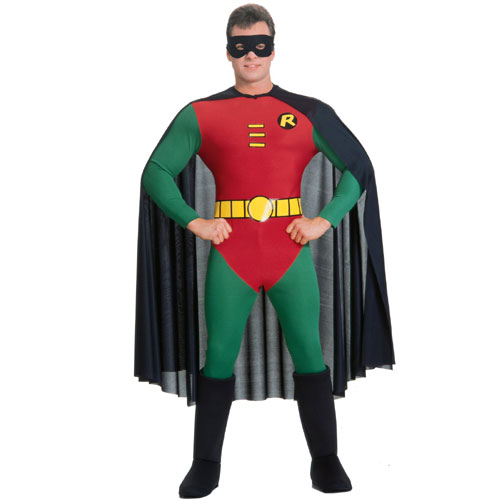 Rubies Costume Co 11225 Batman Robin Version Adult Costume Size Medium- Men Chest Size 40-42