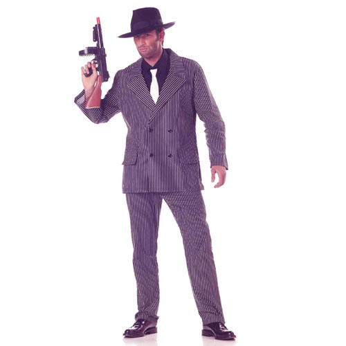 California Costume Collection 17246 Gangster  20s Adult Costume Size X-Large- Men Chest Size 46-48