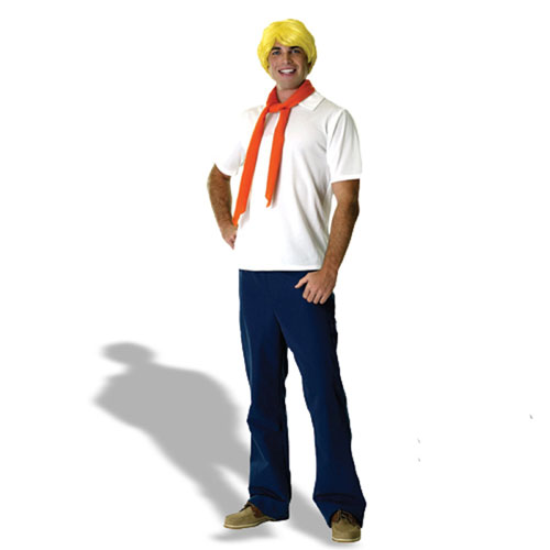 Rubies Costume Co 17747 Scooby-Doo Fred Adult Costume Size Standard One-Size- Men Size 46   Chest-6