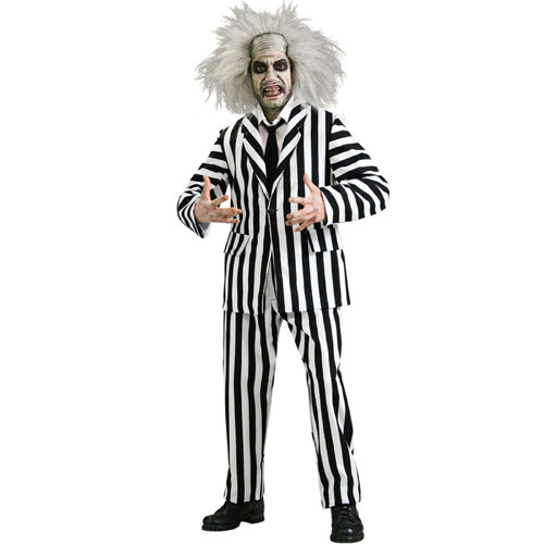 Rubies Costume Co 33054 Beetlejuice Grand Heritage Beetlejuice Adult Costume Size Standard One-Size- Men Size 46   Chest-6