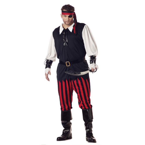 California Costume Collection 17281 Cutthroat Pirate Plus Adult Costume Size Plus 48-52