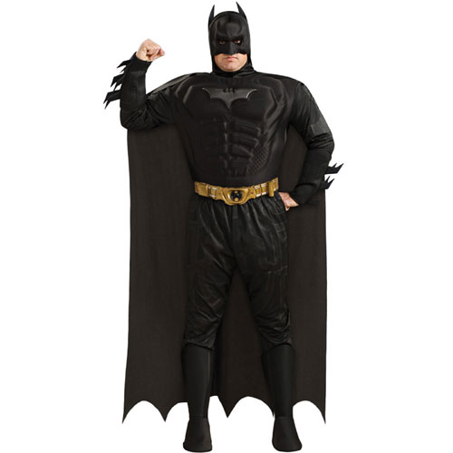 Rubies Costume Co 32975 Batman Dark Knight Deluxe Muscle Chest Batman Adult Plus Costume Size Plus 44-50