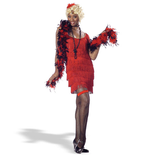 California Costume Collection 18353 Fashion Flapper Red Adult Costume Size Medium- Women 8-10