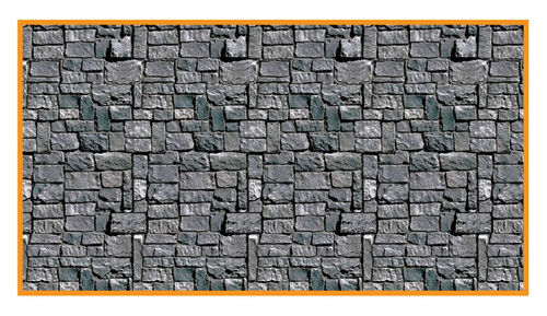 Beistle Company 29200 30  Stone Wall Backdrop