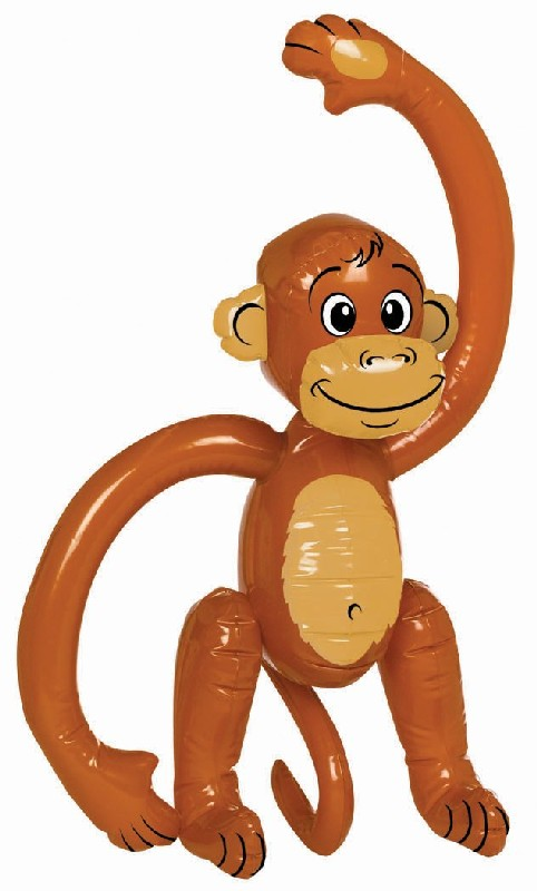 "Amscan 148428 24"" Inflatable Monkey Plastic"