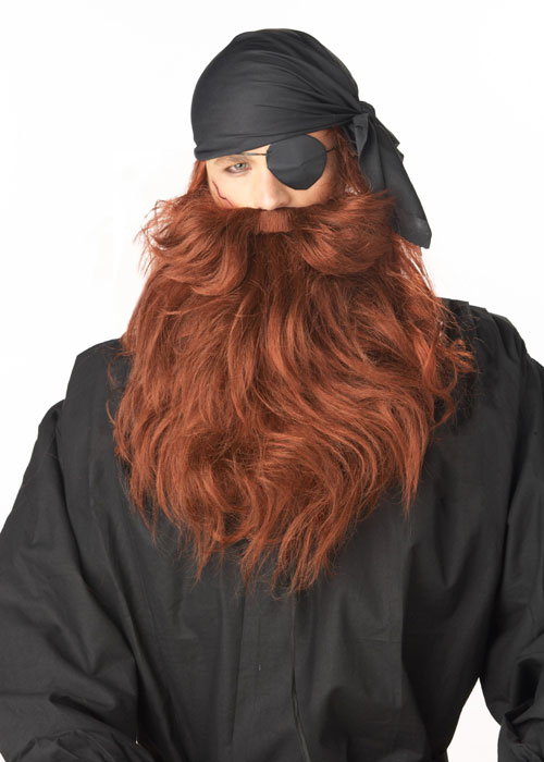California Costume Collection 33948 Pirate Beard and Moustache - Red
