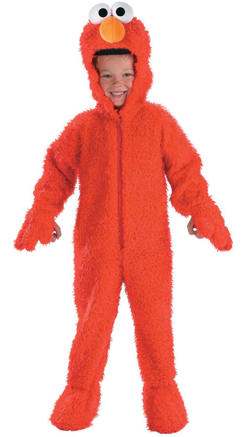 Disguise Inc 12238 Sesame Street Elmo Plush Deluxe Toddler Costume Size Up to 4T