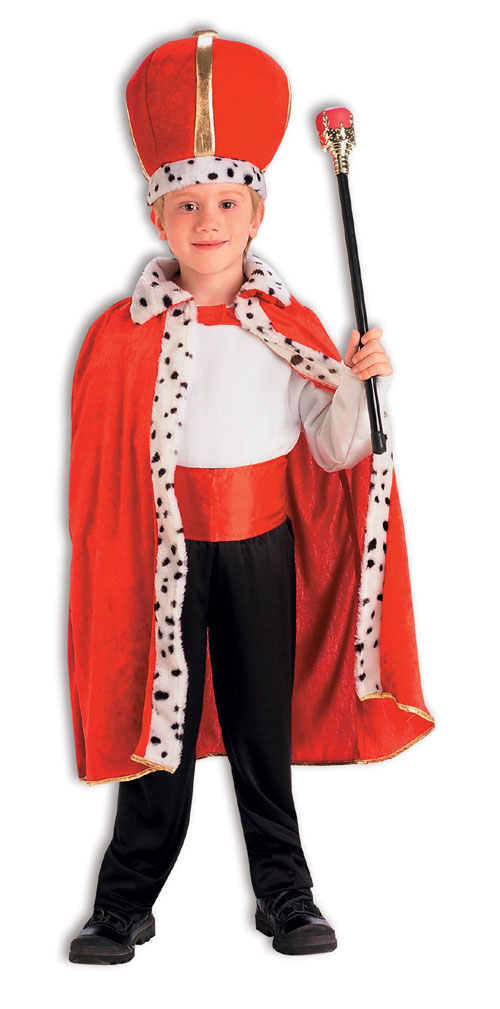 Forum Novelties Inc 31173 King Robe And Crown Set Child Costume Size Standard One Size- Boys 7-10