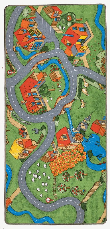 Learning Carpets LC 116 36 x 80 Farm Play Rug - Rectangle LCAR066