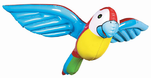 "Amscan 148429 0.5""H Inflatable Parrot Plastic"