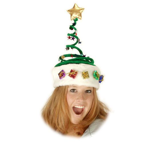 Elope 20027 Deluxe Springy Christmas Tree Hat